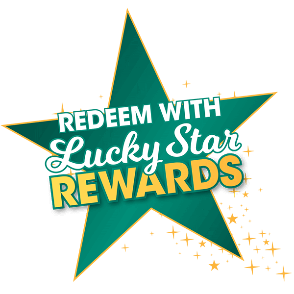 Redeem with Lucky Star Rewards badge